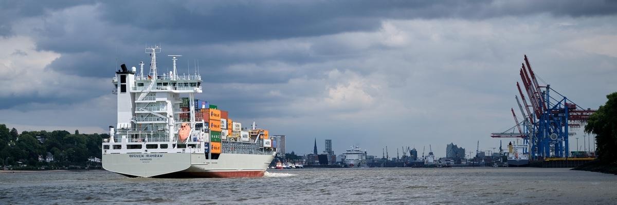 Fotografie Hamburg Hafen Containerschiff
