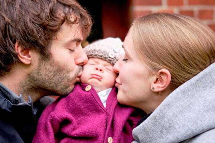 Familienfotografie mit Baby in hamburg